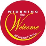 Widening the Welcome logo
