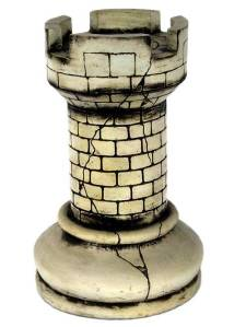 Ivory tower rook piece from a chess set
