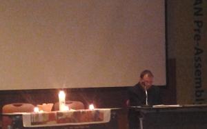 Dr. Arne Fritzon serves as liturgist at EDAN Pre-Assembly event