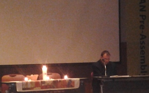Dr. Arne Fritzon serves as liturgist at EDAN Pre-Assembly event